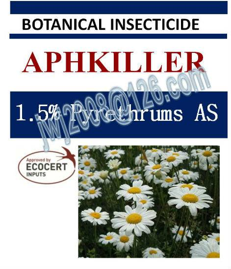 1.5% Pyrethrums AS, biopesticide, botanic insecticide, organic, natural