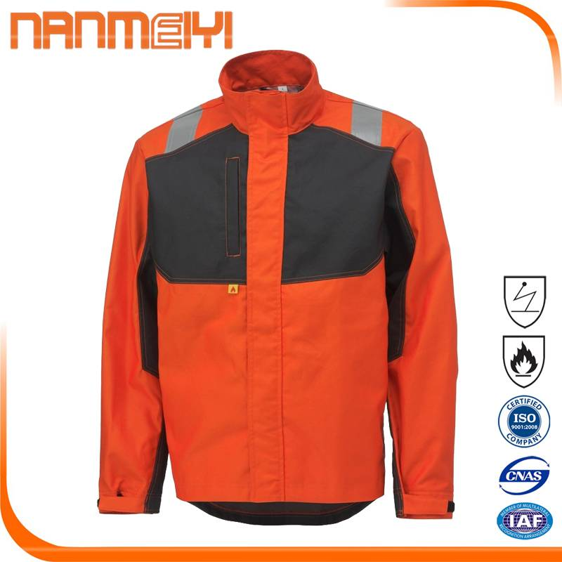 Hi Vis Reflective Safety Working Clothes Men's Construction Jacket