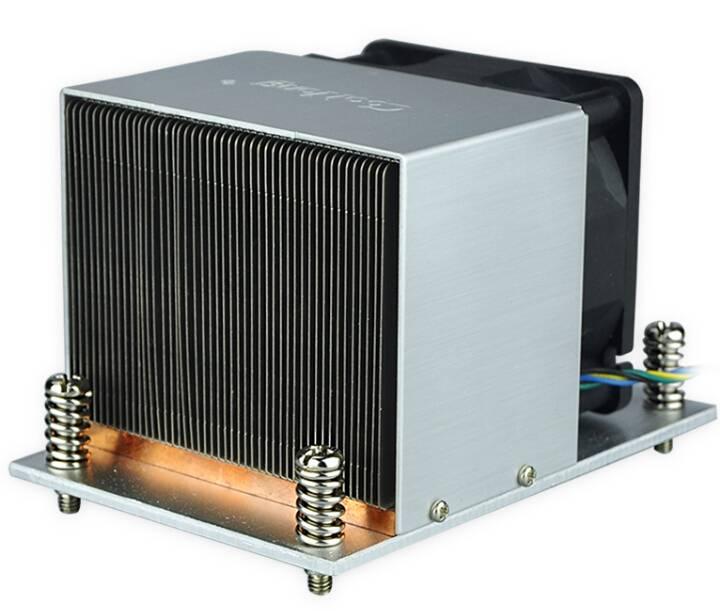 2U Aluminum soldering CPU heat sink for Intel Processors