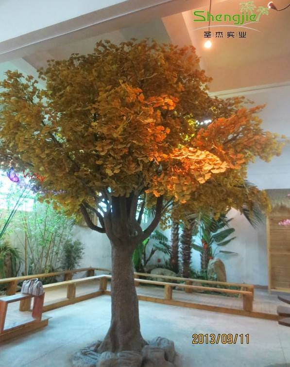 Manufacturer! High imitation gingko tree/plant, popular yellow green gingko tree accept customizatio