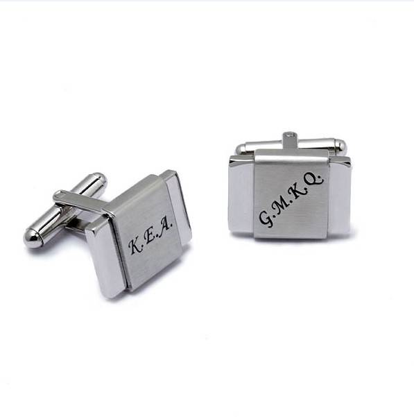 Logo Engrave Stainless Steel Men Cuff Links