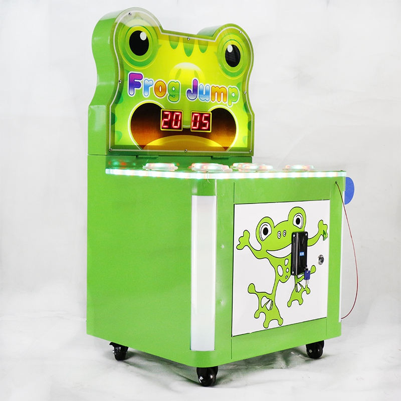 Whack a Frog Mole Hitting Hammer Game Machine Crazy Frog Mole Redemption Kids Amusement Game Machine