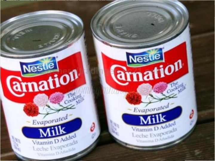 Evaporated Milk in Cans