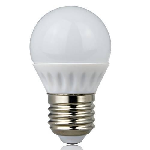 Ceramic SMD G45 4W E27 LED Globe Bulb