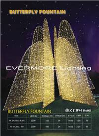motif light  butterfly fountain