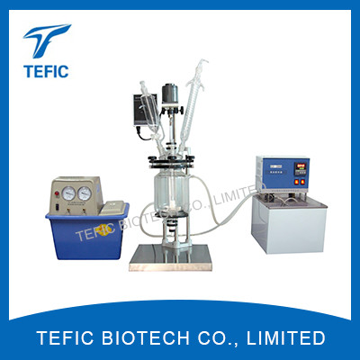 1L 2L 3L 5L Lab Jacketed Glass Reactor For Sale