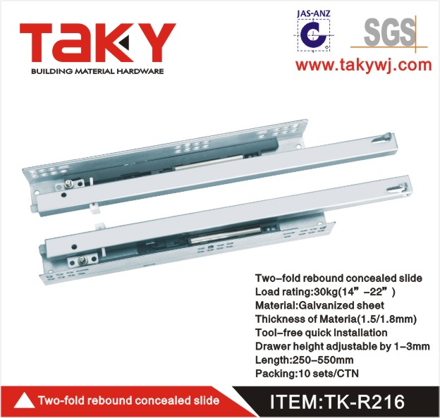 TK-R216 drawers rails&drawer slide manufacturers&pull out drawer slides