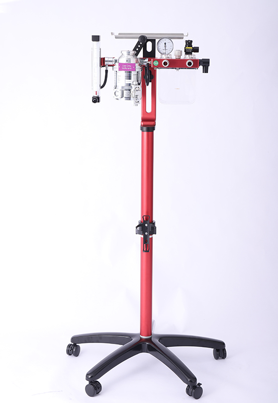Veterinary Anesthesia Machine Stand Mount with A Top Tray (Type 2) / CE Certified
