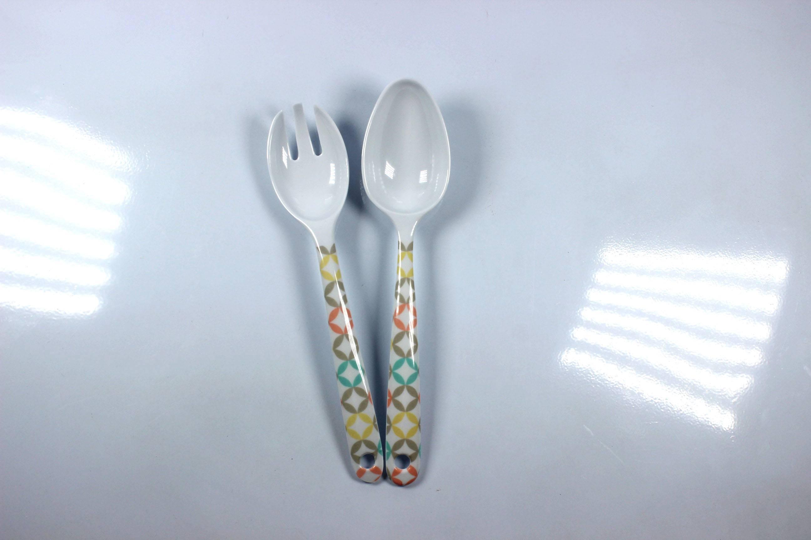 "9.5"" melamine fork and spoon"