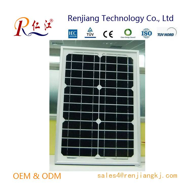 145W Mono Solar Panel, High efficiency Made of A-grade Monocrystalline Cells With TUV/IEC/CE/CEC Cer