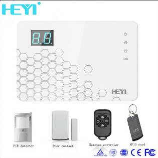 With alarm clock home  alarm system