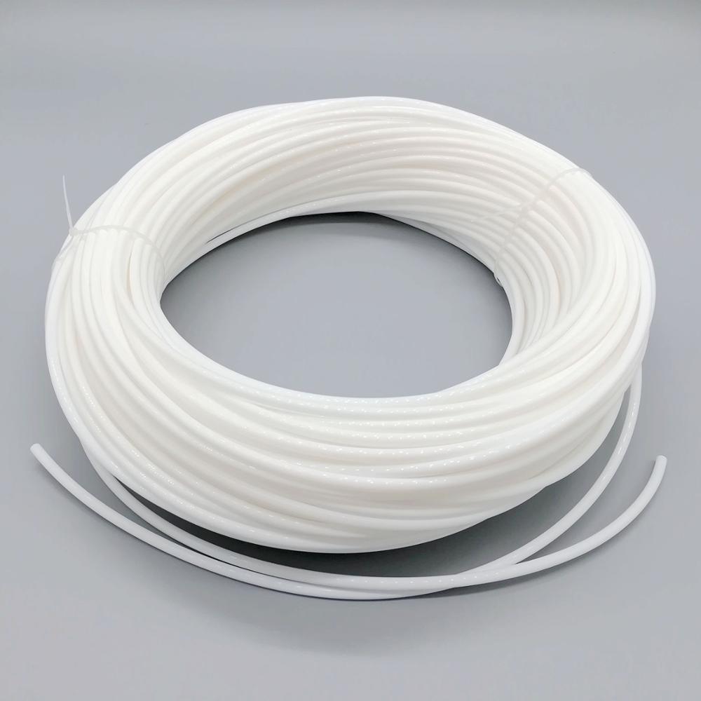 5mm milk cream white soft solid core side glow fiber optic lighting