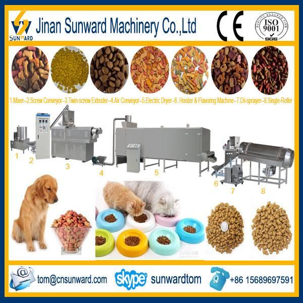 Twin Screws Dog Food Pellet Extruder Machine
