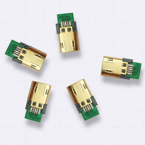 Reversile Micro USB 5P connectors