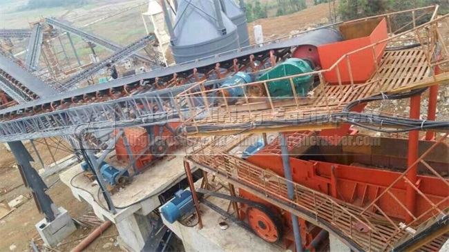PC1213 hammer crusher in stone plant of China