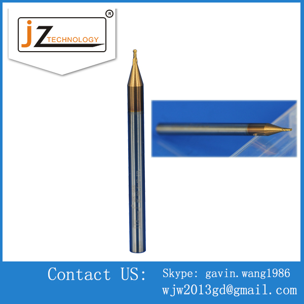 Quality CNC Long shank 2 flutes ball nose Carbide end mills