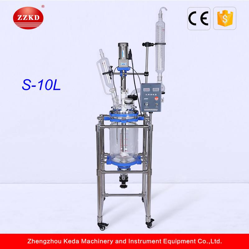 S-10L Chemical Vacuum Borosilicate Jacketed Glass Reactor