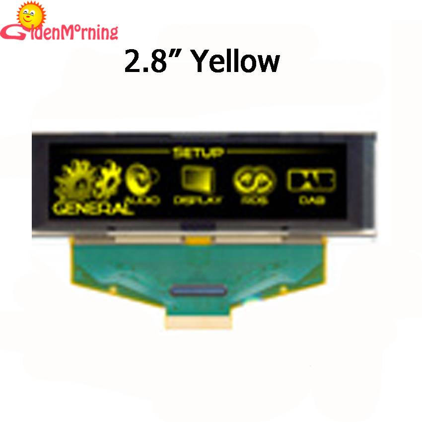 2.8-inch OLED Display Module, Yellow Color, Driver IC SSD1322