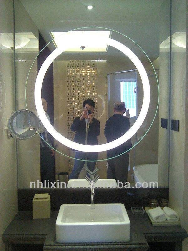 Round Silver Glass Mirrors for Bath/Shower Mirrors