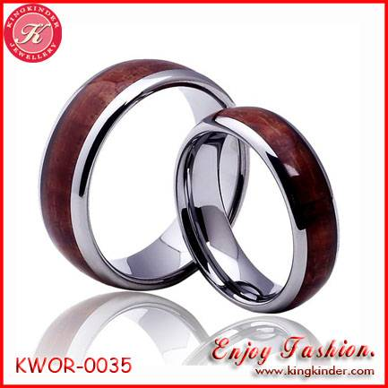 Genuine Natural Wood Ring, Wedding Titanium Ring, Couple Ring