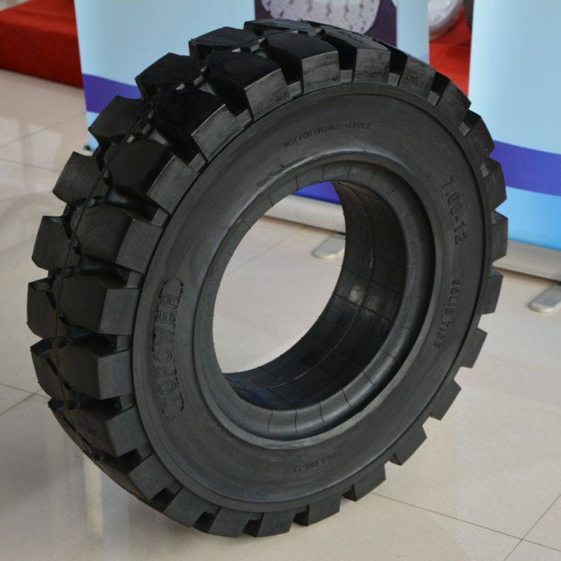 new design resilient forklift tires with SGS standard 7.00-12