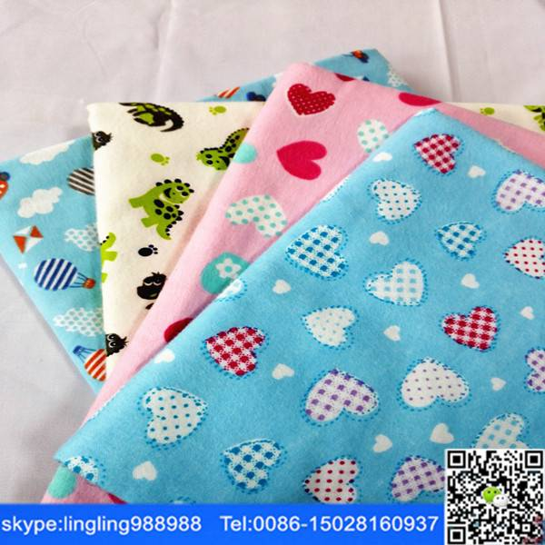 C 20x10 40x42 reactive printed flannel fabric for baby