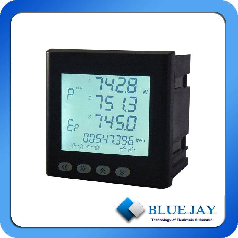 Dual input Multifunction Power Meter for Lighting and Power Circuits