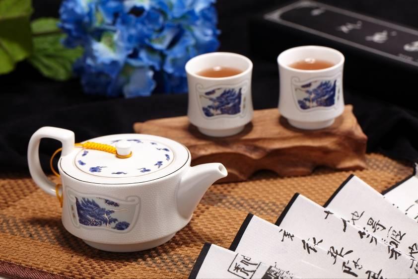 Precious porcelain teapot