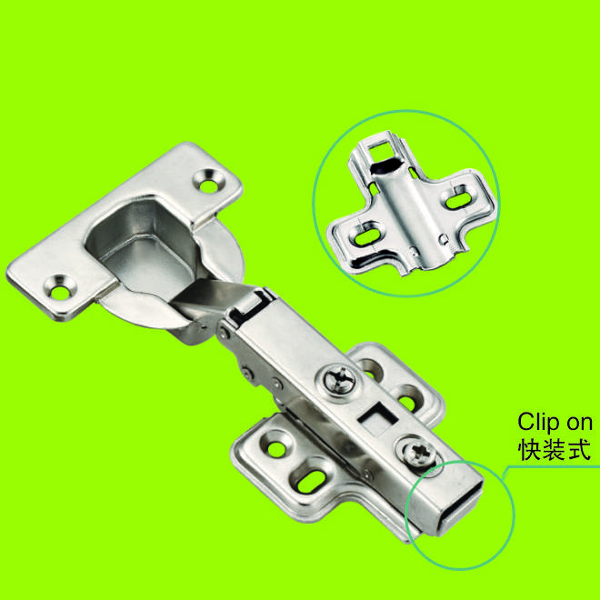 Furniture clip on door hinges 40mm cup