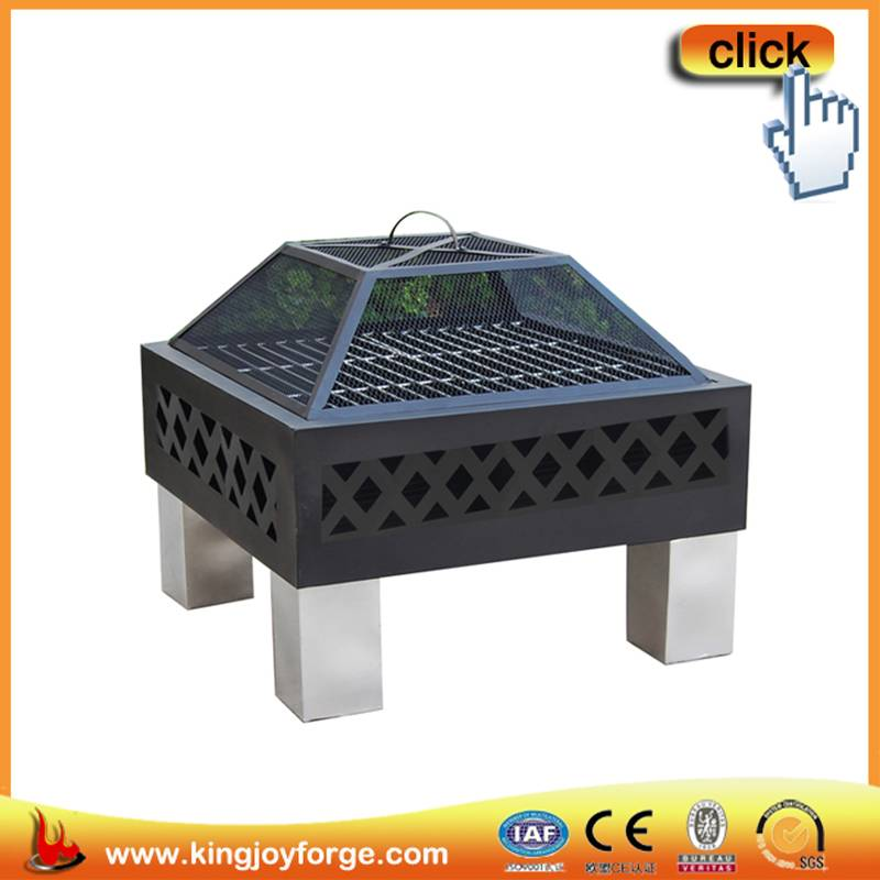 60cm Square steel fire pit