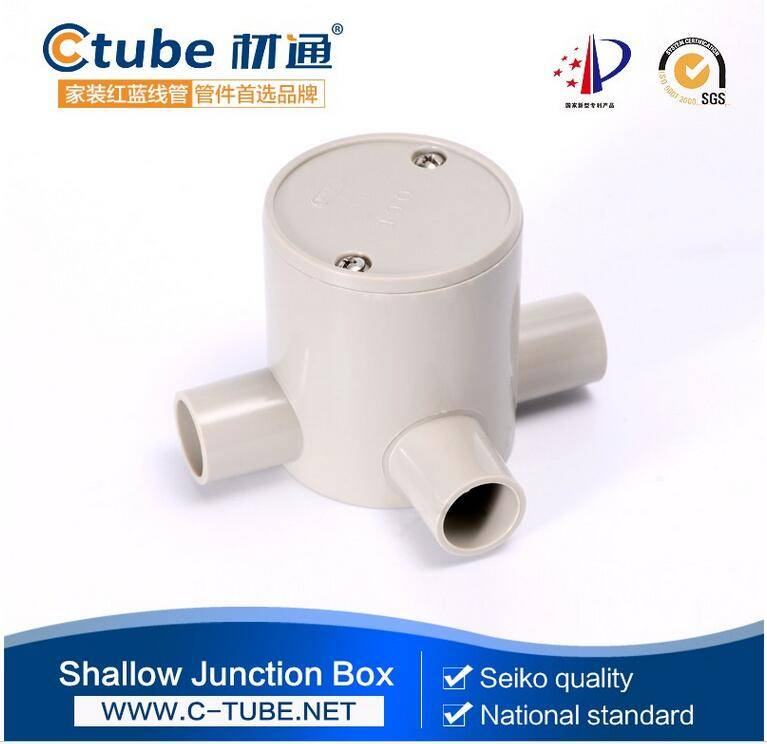 3 / Three way deep plastic J / box electrical conduit fittings