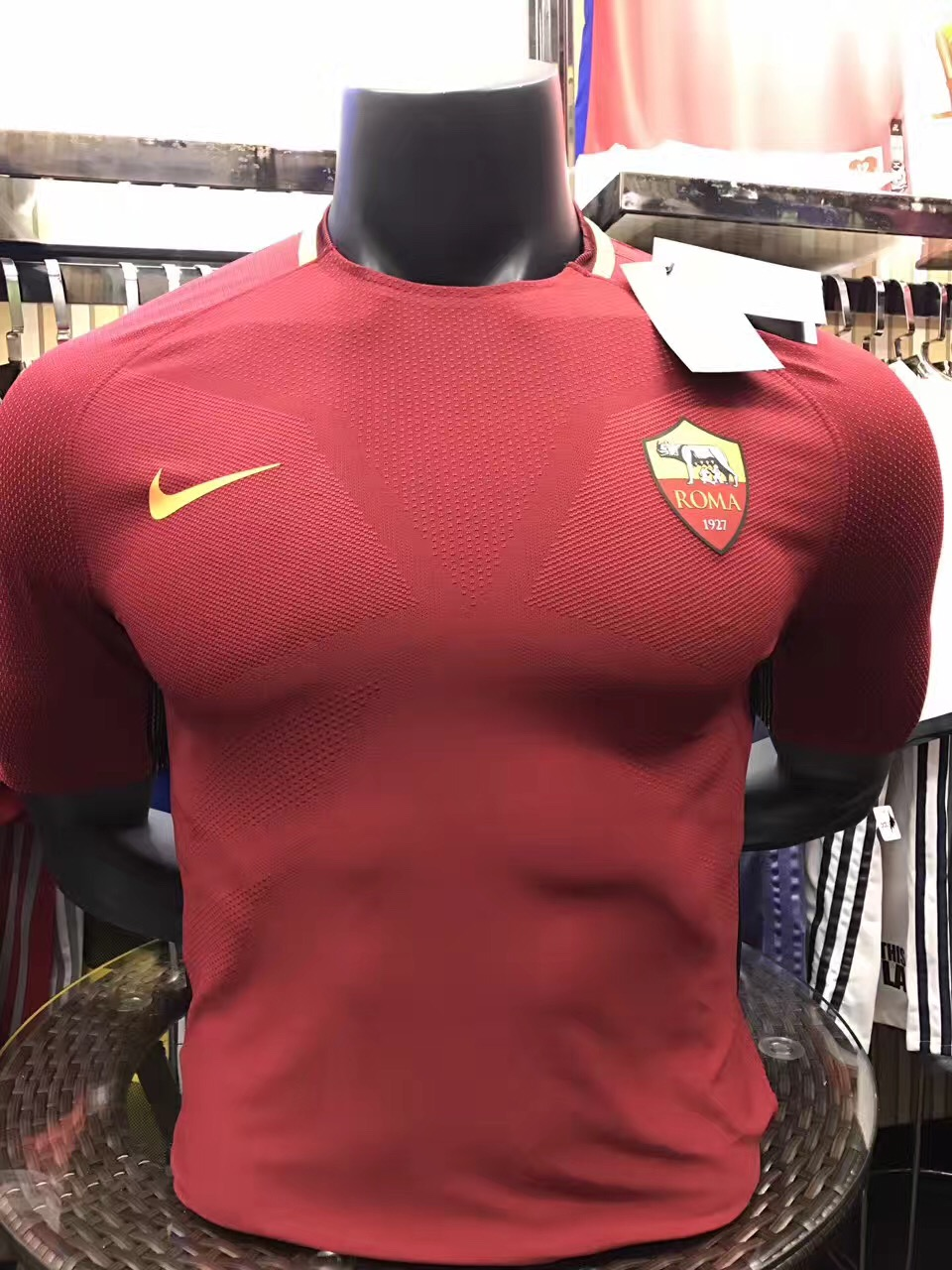 2017-2018 AS Roma Home team Player Jersey(slim fit)