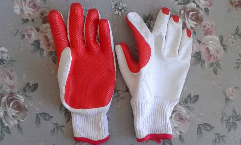 Cheapest SRSAFETY Knitted Latex Glove/Working Glove/Safety Glove