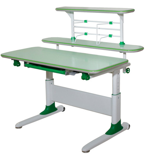 ZC green color study desk ergonomic learning table