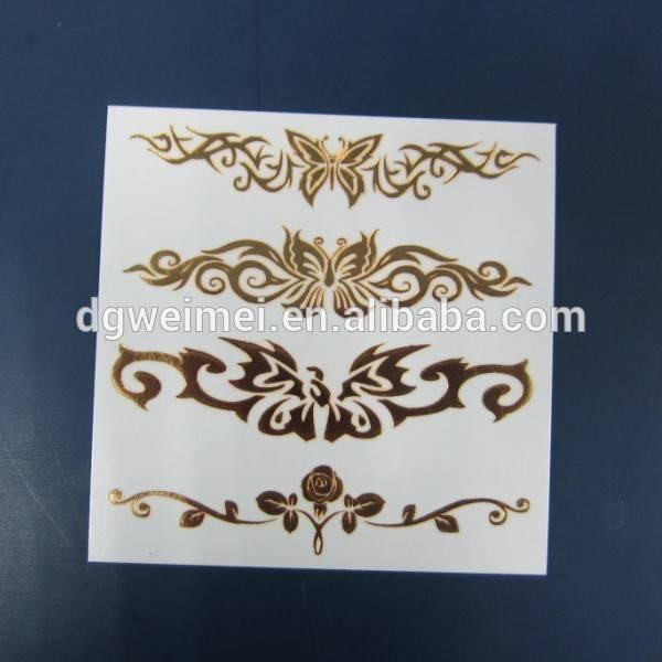 Customized Temporary Metallic Tattoo Sticker