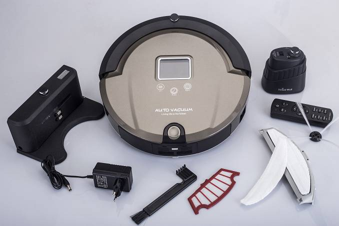 automatic LCD Screen vacuum cleaner robot