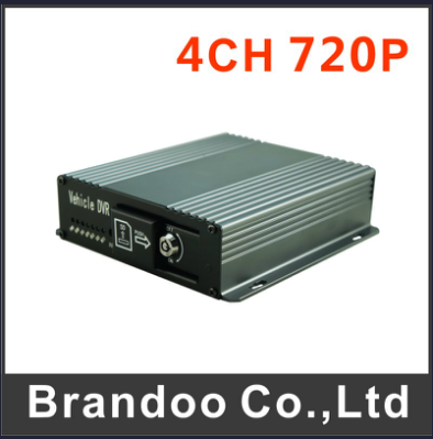 4CH 720p Car DVR, 128GB SD Card, Alarm Input, for Bus, Taxi Used