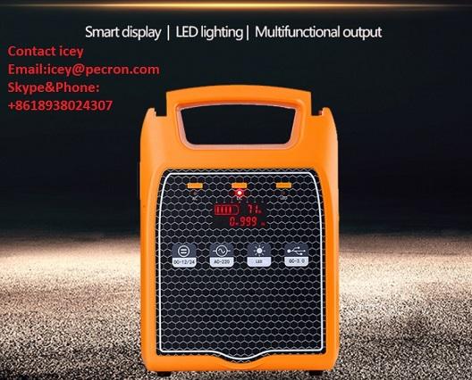Lithium Ion Battery Portable 220v Solar Power Station Solar Inverter
