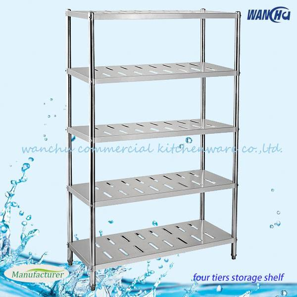 Commercial Kitchen Storage Stainless Steel Shelf / Stainless Steel Rack