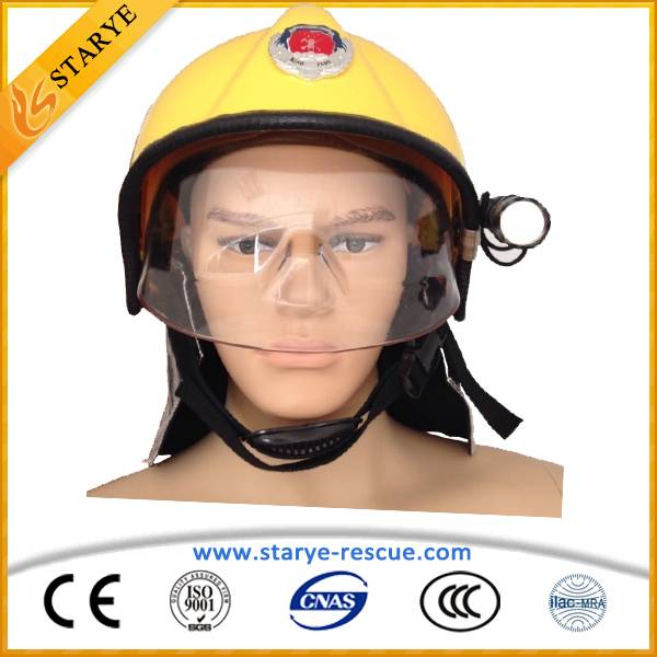 With Flashlight and Transparent Mask Fire Proof Helmet Firefighting Helmet