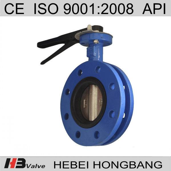 Ductile iron butterfly valve/double flange butterfly valve