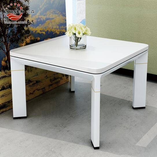 High Quality Modern White Conference Table Round Negotiation Coffee Table(LS-BG-0208)