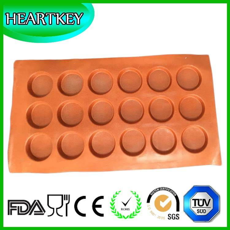 100% Food Grade Round Shaped Silicon Cake Mold