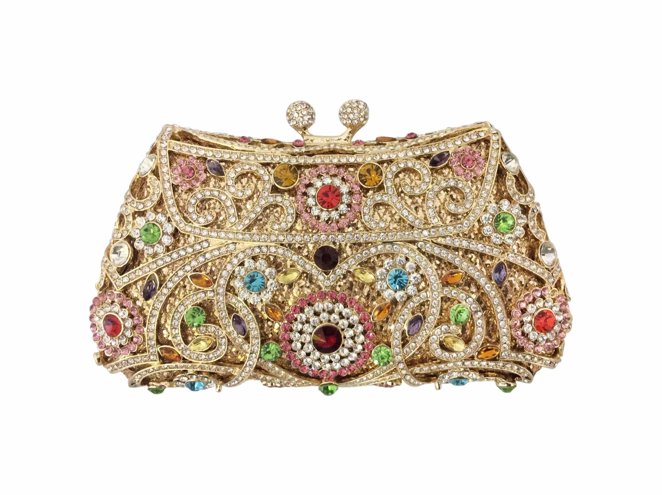 See larger image Elegant Ladies Handbags Purses multi luxury crystal woman purse