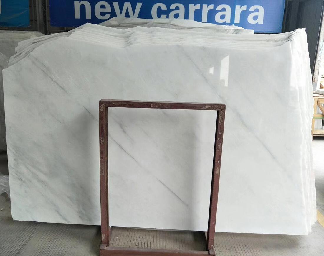 Oriental White marble slabs new carrara