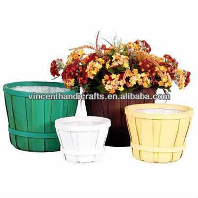 Rustic antique wooden flower baskets wood flower planter