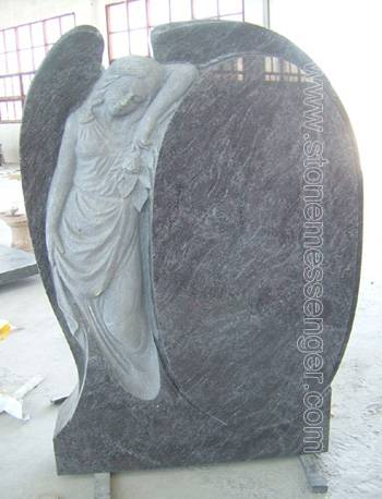 Carved Leaning Angle Granite Monuments, Tombstones, Memorials