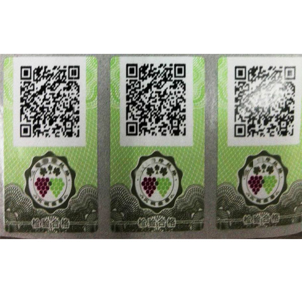 Professinal printing custom sticker with Qr code