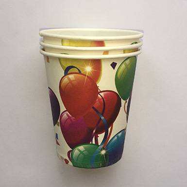 Custom Wholesale Colorful Ballon Party Paper Cups