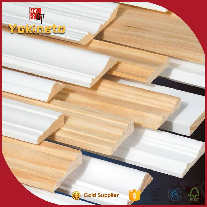 Modern house design wood mouldings